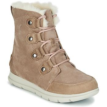 Shoes Women Mid boots Sorel SOREL EXPLORER JOAN Beige