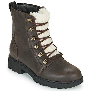 Shoes Women Mid boots Sorel LENNOX LACE COZY Brown