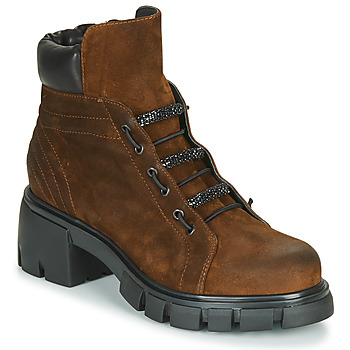 Shoes Women Ankle boots Fru.it POMPEI Brown