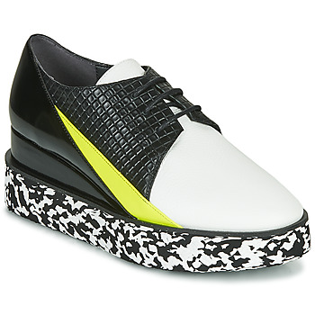 Shoes Women Derby shoes United nude SPARK DERBY Black / White / Yellow