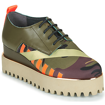 Shoes Women Derby shoes United nude JUKO CALLI Kaki / Orange / Gold