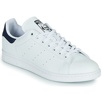 Shoes Low top trainers adidas Originals STAN SMITH VEGAN White / Blue