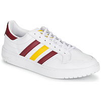 Shoes Low top trainers adidas Originals TEAM COURT White / Bordeaux / Yellow