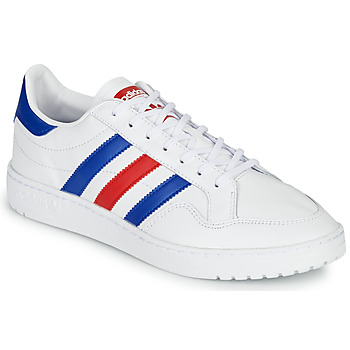 Shoes Low top trainers adidas Originals TEAM COURT White / Blue / Red