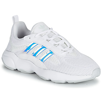 Shoes Girl Low top trainers adidas Originals HAIWEE J White / Iridescent