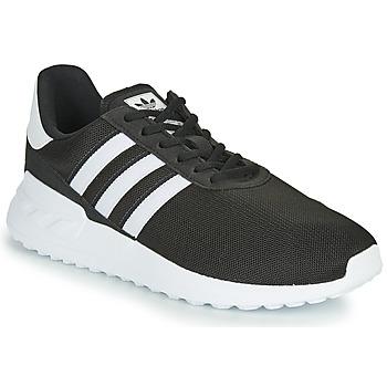 Shoes Children Low top trainers adidas Originals LA TRAINER LITE J Black / White