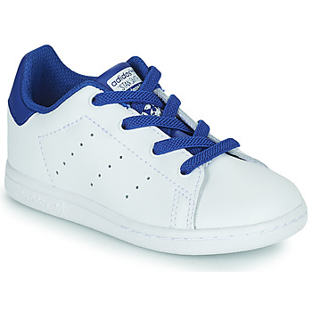 Shoes Boy Low top trainers adidas Originals STAN SMITH EL I White / Blue