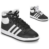 Shoes Children High top trainers adidas Originals TOP TEN J Black / White