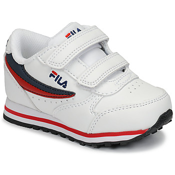 Shoes Children Low top trainers Fila ORBIT VELCRO INFANTS White / Blue