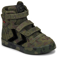 Shoes Children High top trainers Hummel STADIL CAMO Green