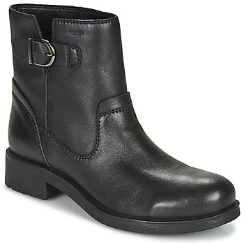 Shoes Women Mid boots Geox RAWELLE Black