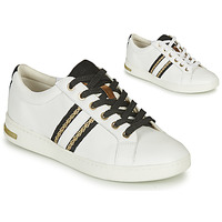Shoes Women Low top trainers Geox JAYSEN White / Black
