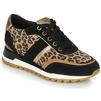 Shoes Women Low top trainers Geox TABELYA Leopard / Black