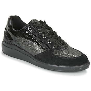 Shoes Women Low top trainers Geox TAHINA Black