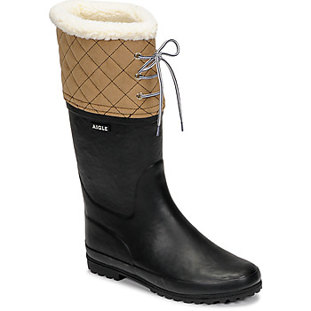 Shoes Women Snow boots Aigle POLKA GIBOULEE Marine / Beige