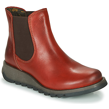 Shoes Women Mid boots Fly London SALV Red