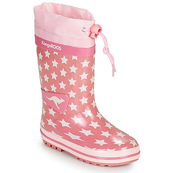 Shoes Girl Wellington boots Kangaroos K-RAIN Pink