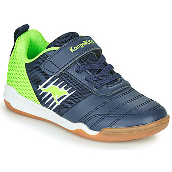 Shoes Boy Low top trainers Kangaroos SUPER COURT EV Blue / Green