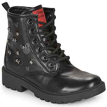 Shoes Girl Mid boots Geox CASEY Black