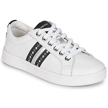 Shoes Girl Low top trainers Geox DJROCK White