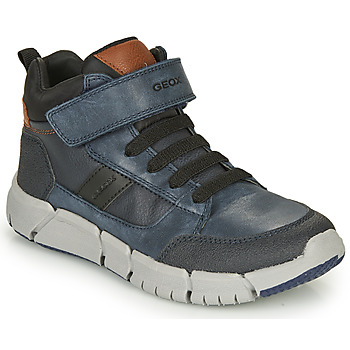 Shoes Boy Mid boots Geox FLEXYPER Marine / Black