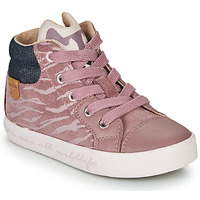 Shoes Girl High top trainers Geox KILWI Pink