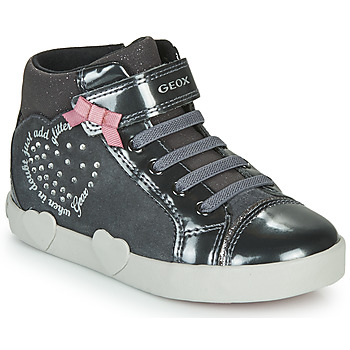 Shoes Girl High top trainers Geox KILWI Grey