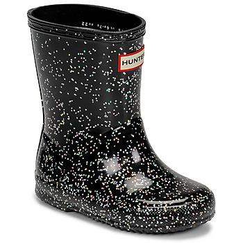 Shoes Girl Wellington boots Hunter KIDS FIRST CLASSIC GLITTER Black