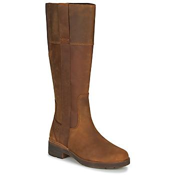 Shoes Women Boots Timberland GRACEYNTALLSIDEZIPWP Brown