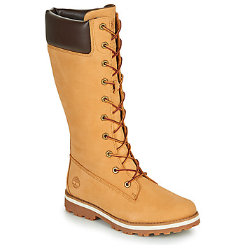Shoes Girl Boots Timberland COURMA KID GIRLS TALL ZIP Wheat