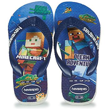 Shoes Boy Flip flops Havaianas Kids Minecraft Blue