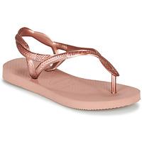 Shoes Girl Flip flops Havaianas LUNA MINI ME Pink