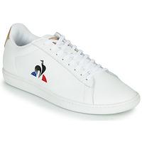Shoes Men Low top trainers Le Coq Sportif COURTSET White / Cognac