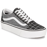 Shoes Women Low top trainers Vans OLD SKOOL PLATFORM Grey