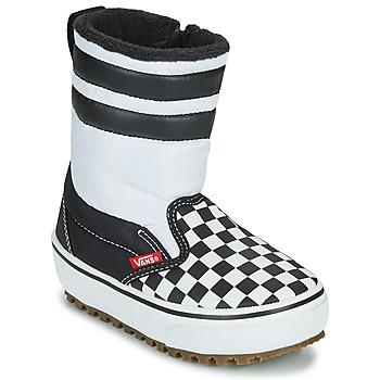 Shoes Children Snow boots Vans YT SLIP-ON SNOW BOOT MTE Black / White