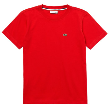 material Boy short-sleeved t-shirts Lacoste TJ1442-F8M-B Red