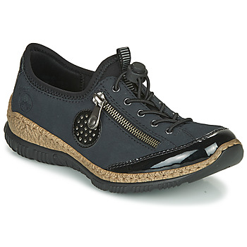 Shoes Women Derby shoes Rieker N3268-01 Blue / Black