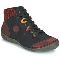 Shoes Women Mid boots Rieker  Black / Bordeaux