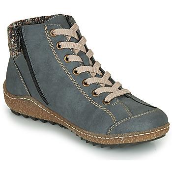 Shoes Women Mid boots Rieker L7543-14 Blue