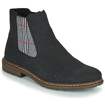 Shoes Women Mid boots Rieker 71072-02 Black / Multicolour