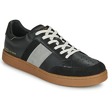 Shoes Men Low top trainers Serafini WIMBLEDON Black / Grey