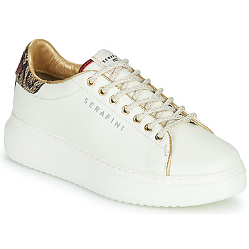 Shoes Women Low top trainers Serafini J.CONNORS White / Python