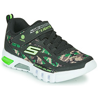 Shoes Boy Low top trainers Skechers FLEX-GLOW Black / Camo / Led