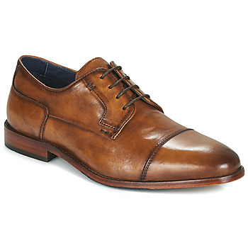 Shoes Men Derby shoes Azzaro TILLEUL Cognac