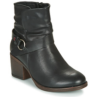 Shoes Women Ankle boots Emmshu FLEUR Black