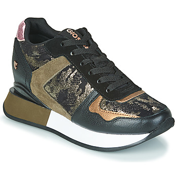Shoes Women Low top trainers Gioseppo SHUYA Black / Kaki