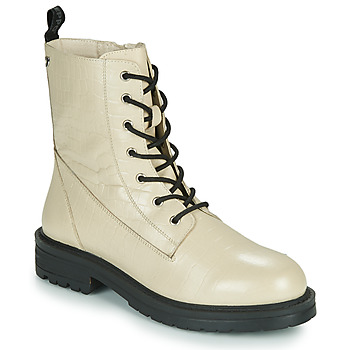 Shoes Women Mid boots Gioseppo WALDECK White / Black