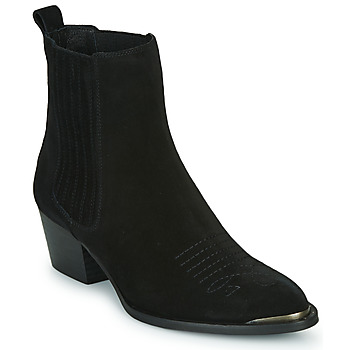 Shoes Women Ankle boots Ikks TIAG SUEDE Black