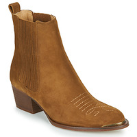 Shoes Women Ankle boots Ikks TIAG SUEDE Camel