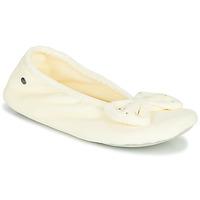 Shoes Women Slippers Isotoner 95991 Ivory